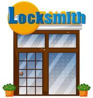A locksmith shop on white background