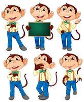 Monkey set vector