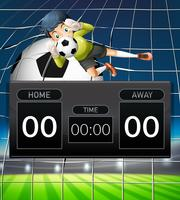 A goalkeeper scoreboard template