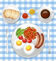 Un conjunto de desayuno británico