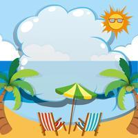 Diseño de la frontera con el tema de verano
