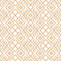 Seamless pattern of Gold chain geometrical ornament on white background. Vector illustration