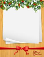 Paper template with christmas theme