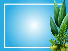 Frame template with green leaves vector