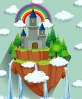 Torres do castelo na ilha