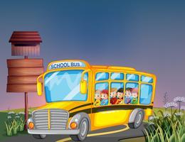 Ônibus escolar vetor