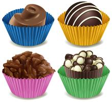 Four kinds of mouthwatering chocolates