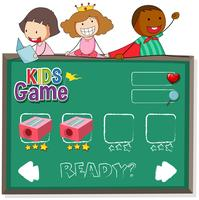 Doodle kids on game template