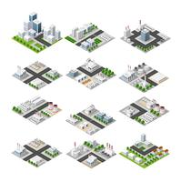 City isometric concept