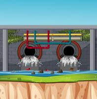 A sewage tunnel scene