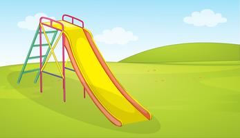 A playground slide background vector