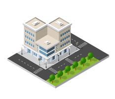 District of the city street vector
