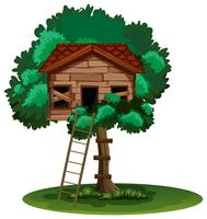 Old treehouse on the tree