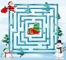 Christmas maze game template