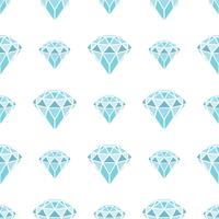 Nahtloses Muster von geometrischen blauen Diamanten auf weißem Hintergrund. Trendy Hipster Kristalle Design.