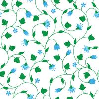 Seamless floral pattern with tiny blue flowers
