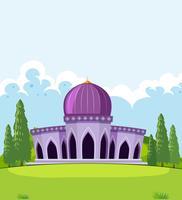 Um belo modelo de mesquita