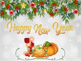 Una plantilla de tarjeta de feliz año nuevo