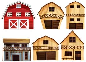 Barns set vector
