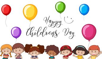 Happy children's day template