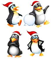Set of cute penguin character