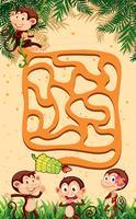 Um jogo de labirinto de macacos