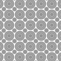 zwart wit fretwerk medaillonpatroon