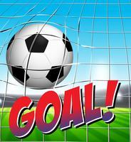 En fotboll på mål