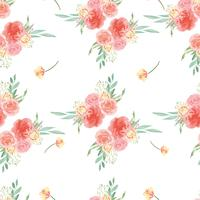 Seamless pattern floral lush watercolour style vintage textile, flowers aquarelle isolated on white background. Design flowers decor for card, save the date, wedding invitation cards, poster, banner design.