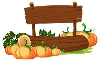 Oragnic pumpkin on wooden board vector