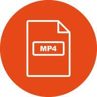 MP4 Vector pictogram