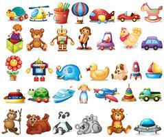 Diferentes tipos de juguetes