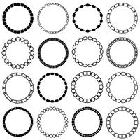 mod black chain circle frames