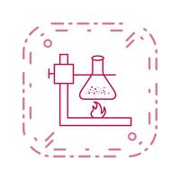 Fire Under Flask Vector Icon