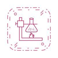 Feuer unter Flasche Vektor Icon