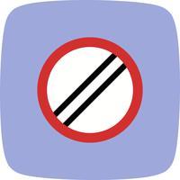 Vector Il limite di velocità nazionale si applica all'icona