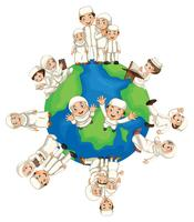Muslim people around the world vector