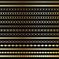 mod gold chain border patterns