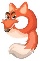 Cartoon fox number nine
