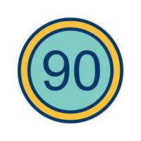 Vector Speed limit 90 Icon