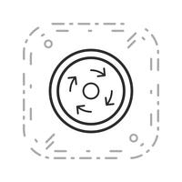 Icono de rotonda obligatoria de vector