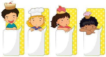 Kids and board templates vector