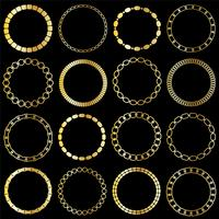 mod gold chain circle frames