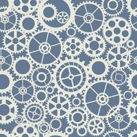 Seamless wheel gear machine pattern industry concept vector