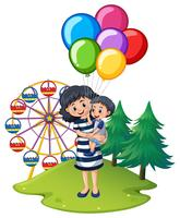 Mutter und Sohn im Funpark