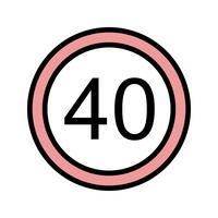 Vektor-Geschwindigkeitsbegrenzung 40 Ikone