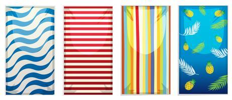 A set of beach towel