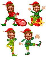 A set of christmas elf