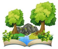 Open boek natuur thema