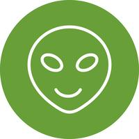 buitenaardse emoji vector pictogram